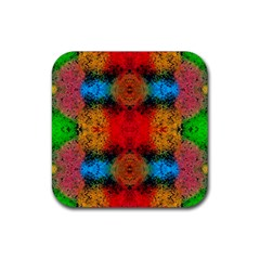 Colorful Goa   Painting Rubber Coaster (square)  by Costasonlineshop