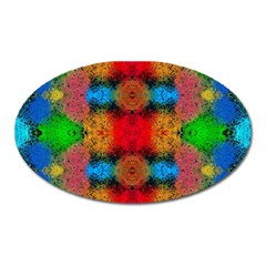 Colorful Goa   Painting Oval Magnet by Costasonlineshop