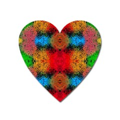Colorful Goa   Painting Heart Magnet