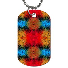 Colorful Goa   Painting Dog Tag (one Side)