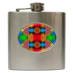 Colorful Goa   Painting Hip Flask (6 Oz)