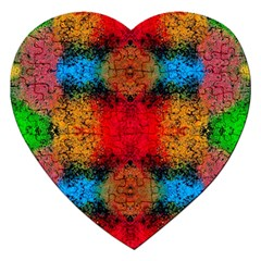 Colorful Goa   Painting Jigsaw Puzzle (heart) by Costasonlineshop