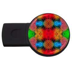 Colorful Goa   Painting Usb Flash Drive Round (4 Gb)  by Costasonlineshop