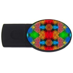 Colorful Goa   Painting Usb Flash Drive Oval (4 Gb)