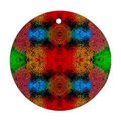 Colorful Goa   Painting Round Ornament (two Sides)