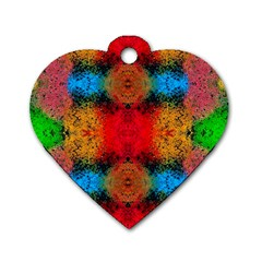 Colorful Goa   Painting Dog Tag Heart (one Side)