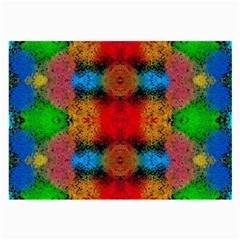 Colorful Goa   Painting Large Glasses Cloth by Costasonlineshop