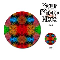 Colorful Goa   Painting Multi Purpose Cards (round)  by Costasonlineshop
