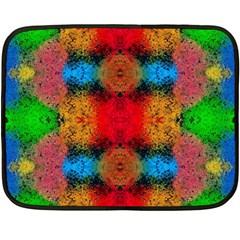 Colorful Goa   Painting Double Sided Fleece Blanket (mini)  by Costasonlineshop