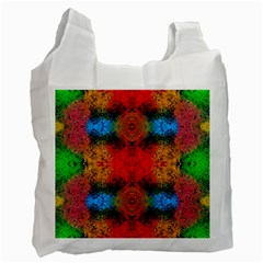Colorful Goa   Painting Recycle Bag (one Side) by Costasonlineshop