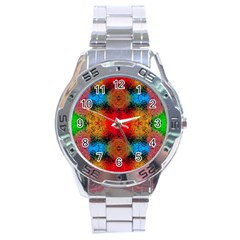 Colorful Goa   Painting Stainless Steel Men s Watch by Costasonlineshop