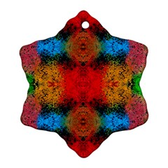 Colorful Goa   Painting Ornament (snowflake)  by Costasonlineshop