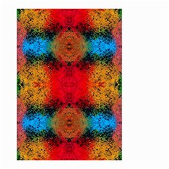 Colorful Goa   Painting Small Garden Flag (two Sides) by Costasonlineshop