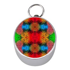 Colorful Goa   Painting Mini Silver Compasses by Costasonlineshop