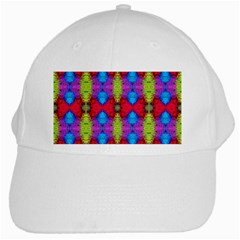 Colorful Painting Goa Pattern White Cap by Costasonlineshop