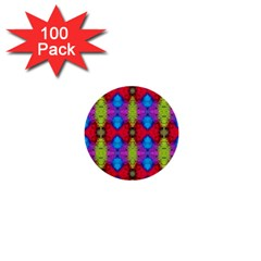 Colorful Painting Goa Pattern 1  Mini Buttons (100 Pack)  by Costasonlineshop