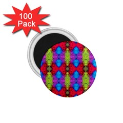 Colorful Painting Goa Pattern 1 75  Magnets (100 Pack)  by Costasonlineshop