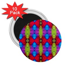 Colorful Painting Goa Pattern 2 25  Magnets (10 Pack)