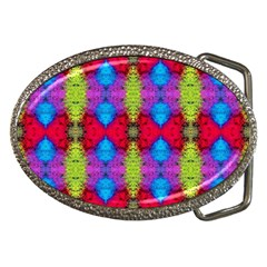 Colorful Painting Goa Pattern Belt Buckles