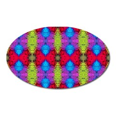 Colorful Painting Goa Pattern Oval Magnet
