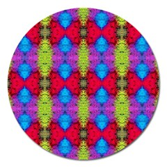 Colorful Painting Goa Pattern Magnet 5  (round)