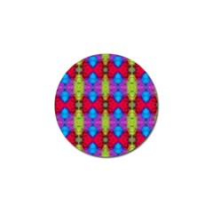 Colorful Painting Goa Pattern Golf Ball Marker by Costasonlineshop