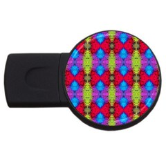 Colorful Painting Goa Pattern Usb Flash Drive Round (2 Gb)  by Costasonlineshop