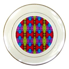 Colorful Painting Goa Pattern Porcelain Plates