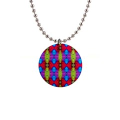 Colorful Painting Goa Pattern Button Necklaces by Costasonlineshop