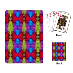 Colorful Painting Goa Pattern Playing Card by Costasonlineshop