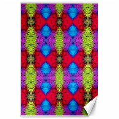 Colorful Painting Goa Pattern Canvas 24  X 36