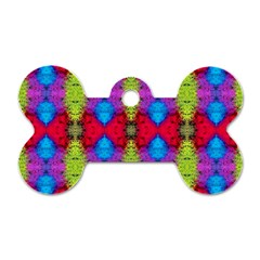 Colorful Painting Goa Pattern Dog Tag Bone (two Sides)
