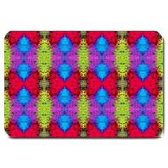 Colorful Painting Goa Pattern Large Doormat  by Costasonlineshop
