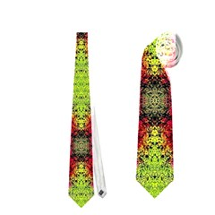 Colorful Painting Goa Pattern Neckties (one Side)  by Costasonlineshop