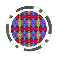 Colorful Painting Goa Pattern Poker Chip Card Guards by Costasonlineshop