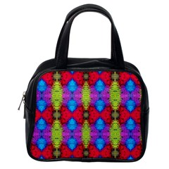 Colorful Painting Goa Pattern Classic Handbags (one Side) by Costasonlineshop
