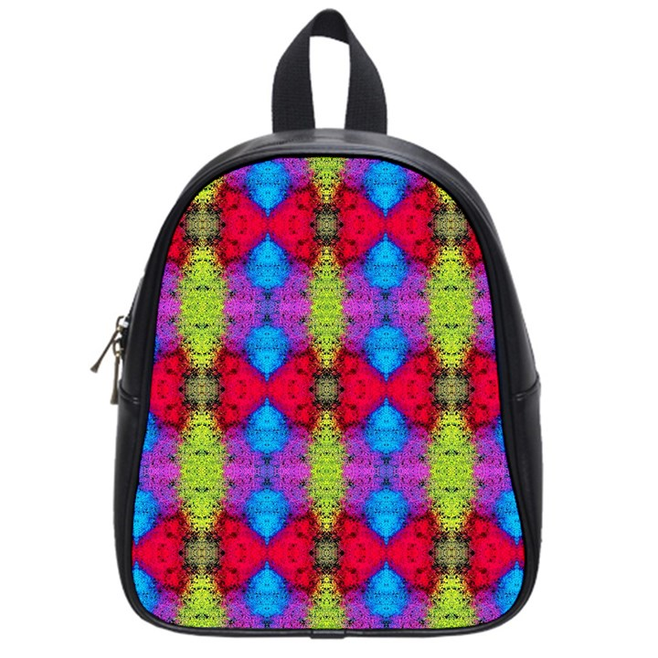 Colorful Painting Goa Pattern School Bags (Small)