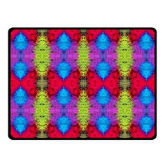 Colorful Painting Goa Pattern Fleece Blanket (small)