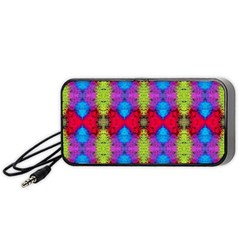 Colorful Painting Goa Pattern Portable Speaker (black)  by Costasonlineshop