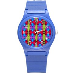 Colorful Painting Goa Pattern Round Plastic Sport Watch (s)