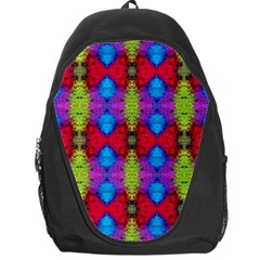 Colorful Painting Goa Pattern Backpack Bag by Costasonlineshop