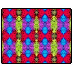 Colorful Painting Goa Pattern Double Sided Fleece Blanket (medium)