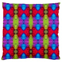 Colorful Painting Goa Pattern Standard Flano Cushion Cases (two Sides)  by Costasonlineshop