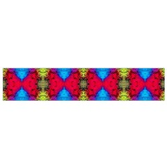 Colorful Painting Goa Pattern Flano Scarf (small)  by Costasonlineshop
