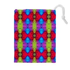 Colorful Painting Goa Pattern Drawstring Pouches (extra Large)