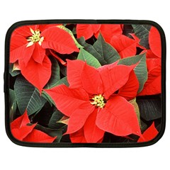 POINSETTIA Netbook Case (Large) by trendistuff