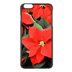 Poinsettia Apple Iphone 6 Plus/6s Plus Black Enamel Case by trendistuff
