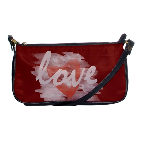 Romantic Watercolor Hearts Love Red By Lucy   Shoulder Clutch Bag   Pzyxnj1pmb55   Www Artscow Com Front
