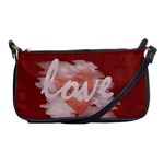 Romantic Watercolor Hearts Love Red - Shoulder Clutch Bag