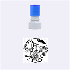 Reflective Illusion 01 Rubber Round Stamps (small)